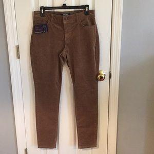 "Chaps corduroys 6R 29"" inseam dark khaki, elastic"